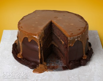 Dirty Chocolate Salted Caramel Cake